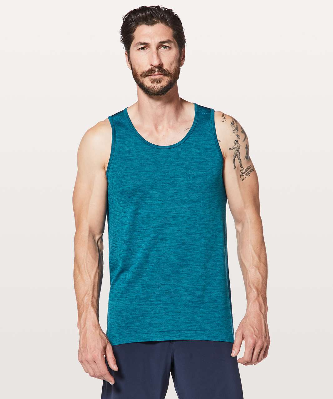 Lululemon Metal Vent Tech Surge Tank - Night Diver / Capri