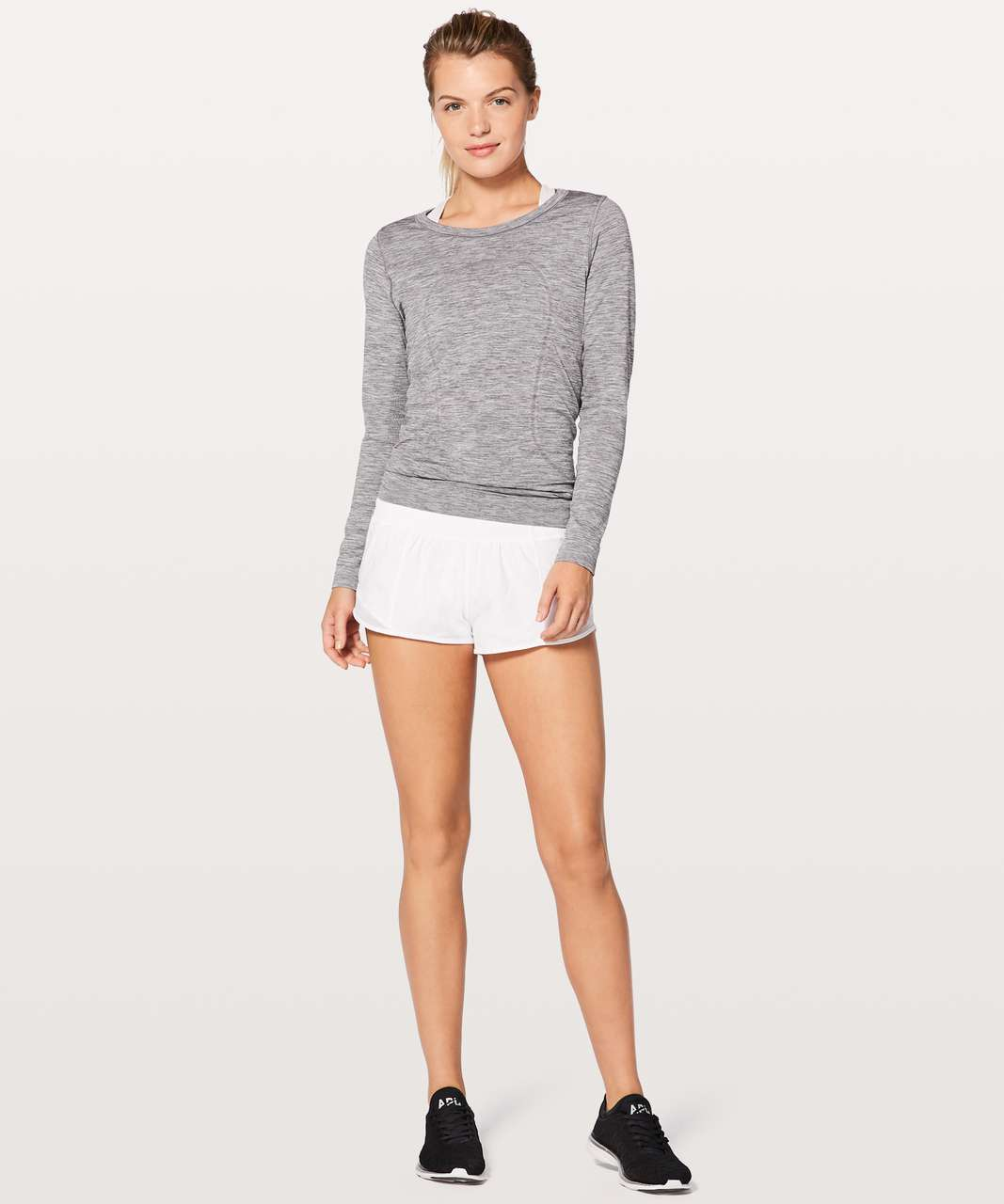 "Lululemon Hotty Hot Short II *2.5"" - White (First Release)"