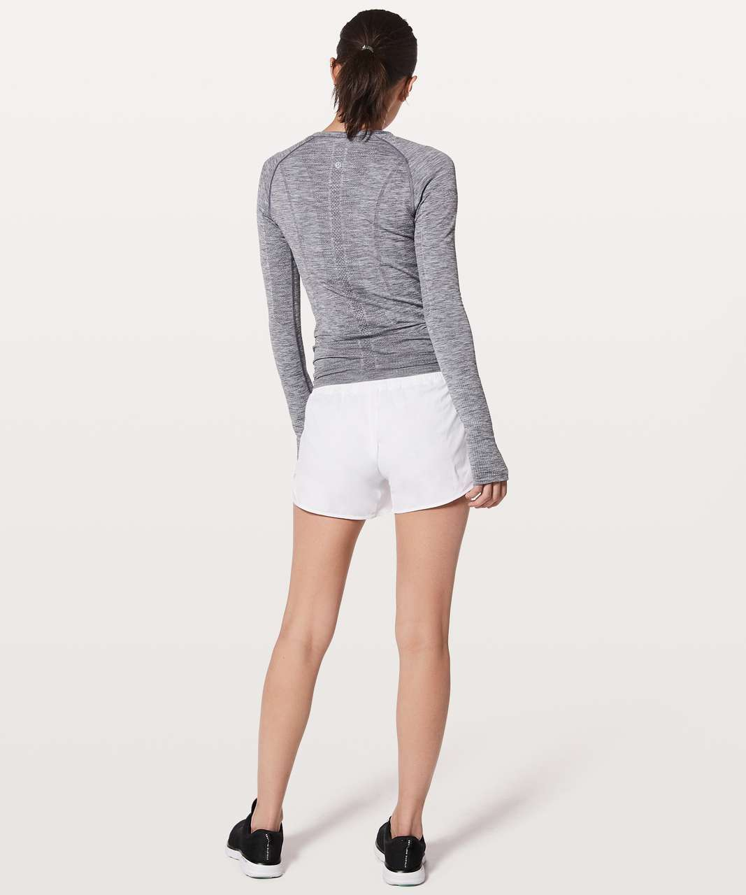 "Lululemon Hotty Hot Short II *Long 4"" - White (First Release)"