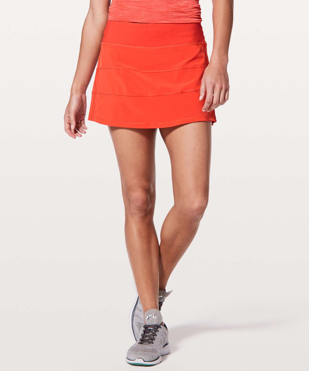 "Lululemon Pace Rival Skirt (Regular) *4-way Stretch 13"" - Red Orange"