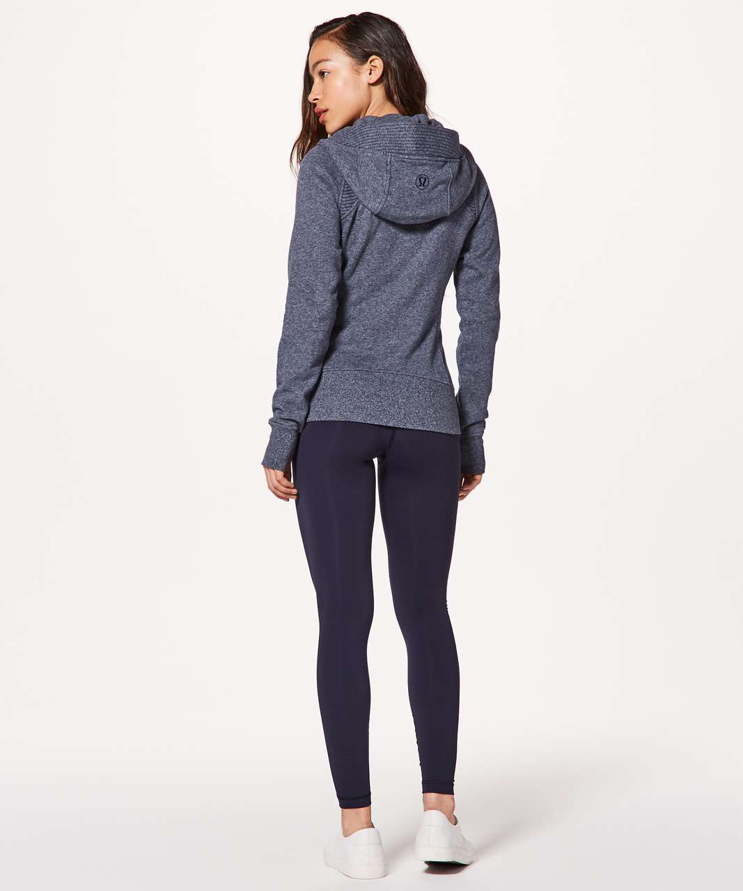 Lululemon Scuba Hoodie *Light Cotton Fleece Sashiko - Heathered Speckled True Navy / True Navy