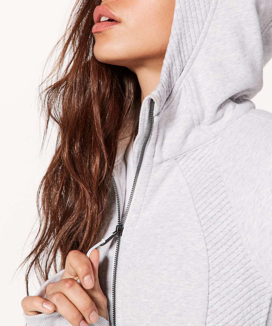 Lululemon Scuba Hoodie *Light Cotton Fleece Sashiko - Heathered Core Ultra Light Grey / Nimbus