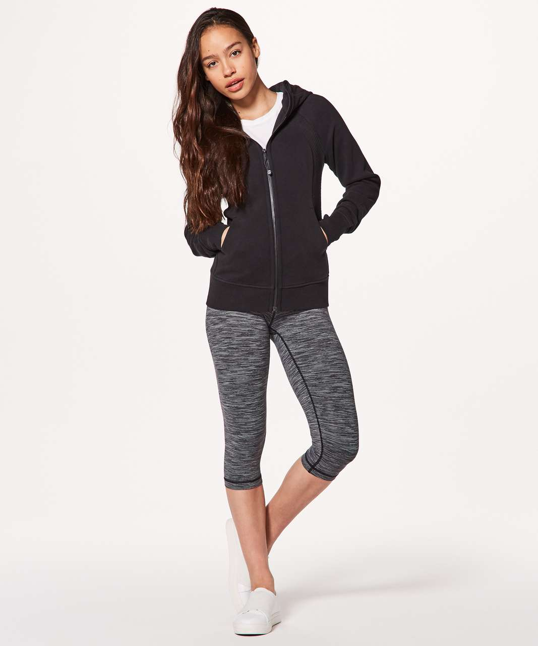 Lululemon Scuba Hoodie *Light Cotton Fleece Sashiko - Black / Black