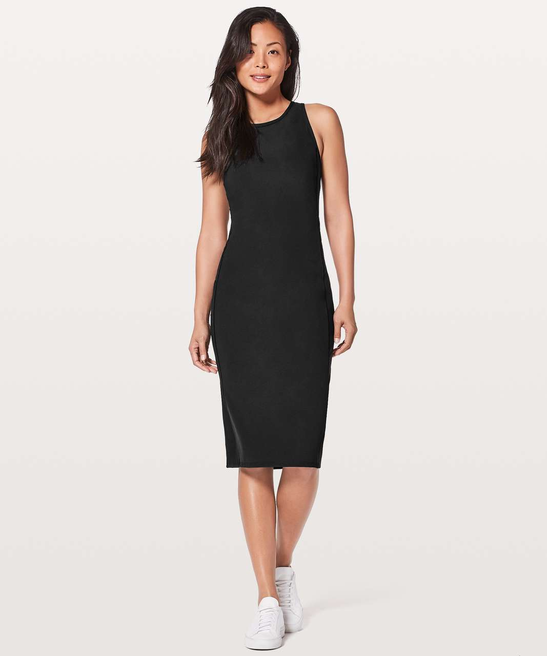 Lululemon Rather Be Gathered Dress - Black - lulu fanatics