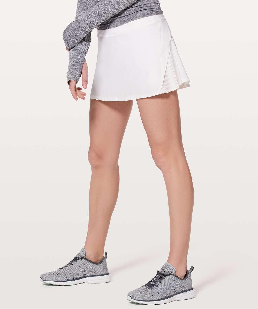 Lululemon Play Off The Pleats Skirt - White