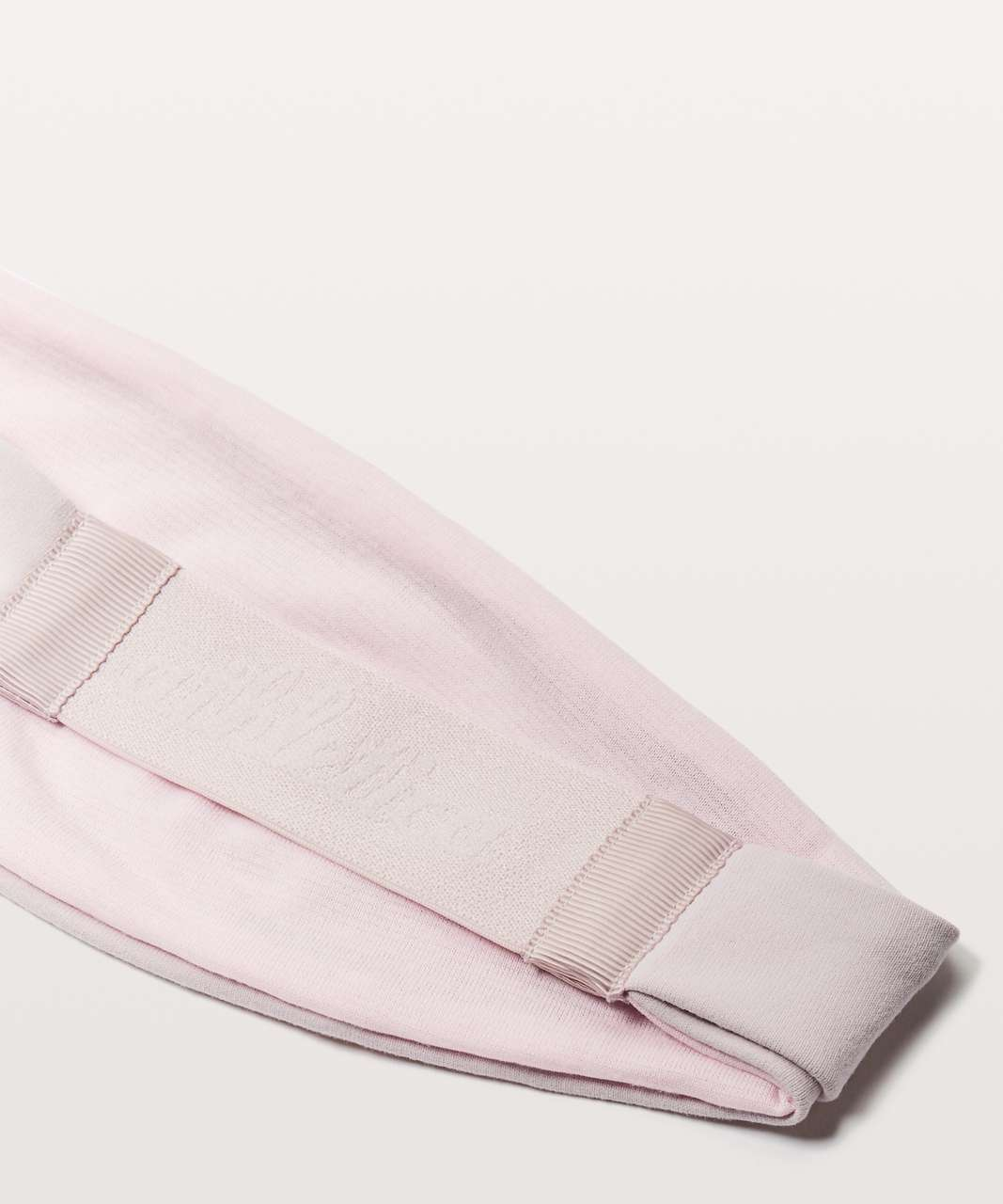 Lululemon Fringe Fighter Headband - Porcelain Pink / Heathered Pearl Pink