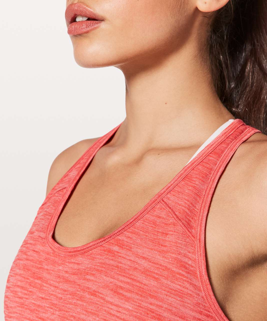 Lululemon Essential Tank - Heathered Red Orange