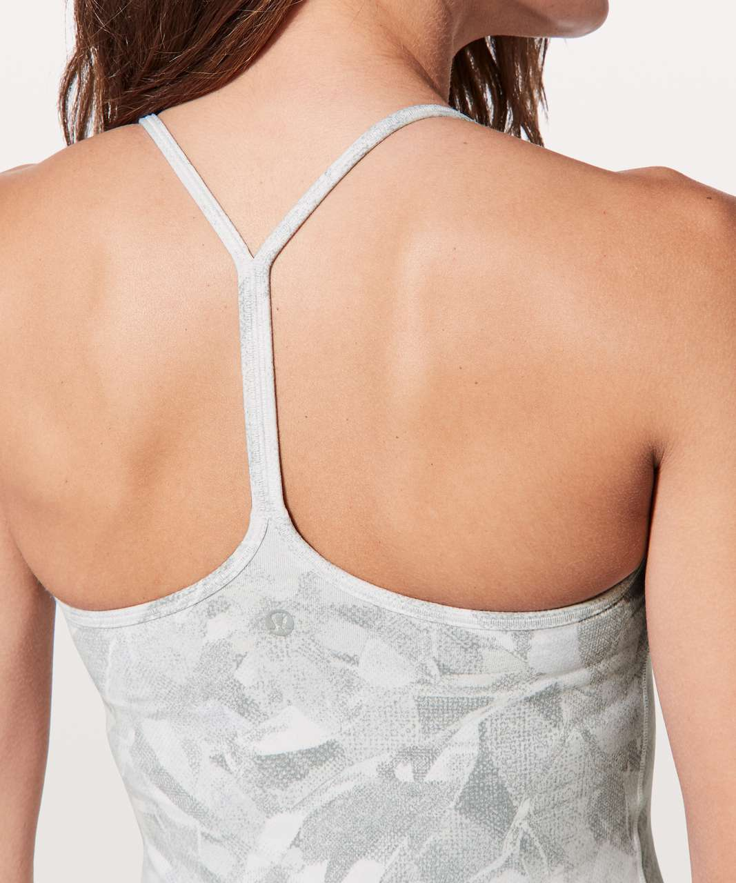Lululemon Power Pose Tank *Light Support For A/B Cup - Jasmine White Multi / Alpine White