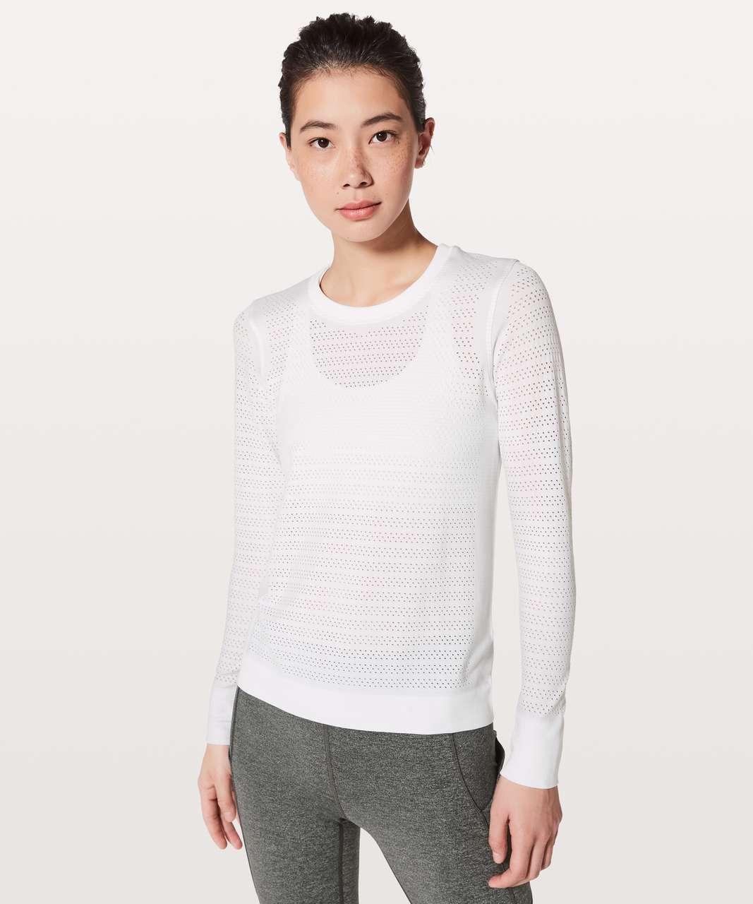 9d1ecc0c1ef53 Lululemon Breeze By Long Sleeve  Squad - White   White - lulu fanatics