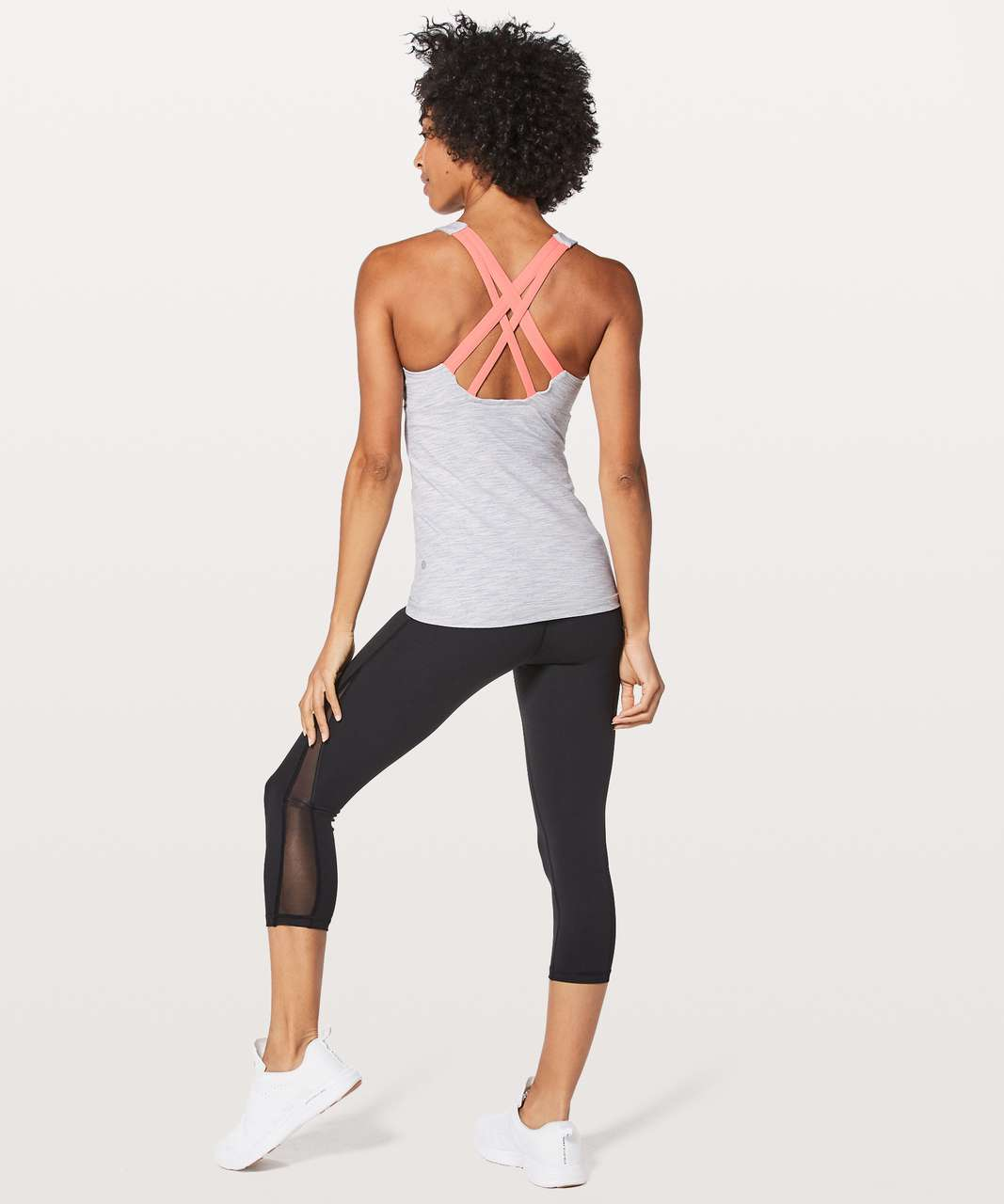 Lululemon Stash N Run Tank *Medium Support For B/C Cup - Wee Are From Space Nimbus Battleship / Light Coral