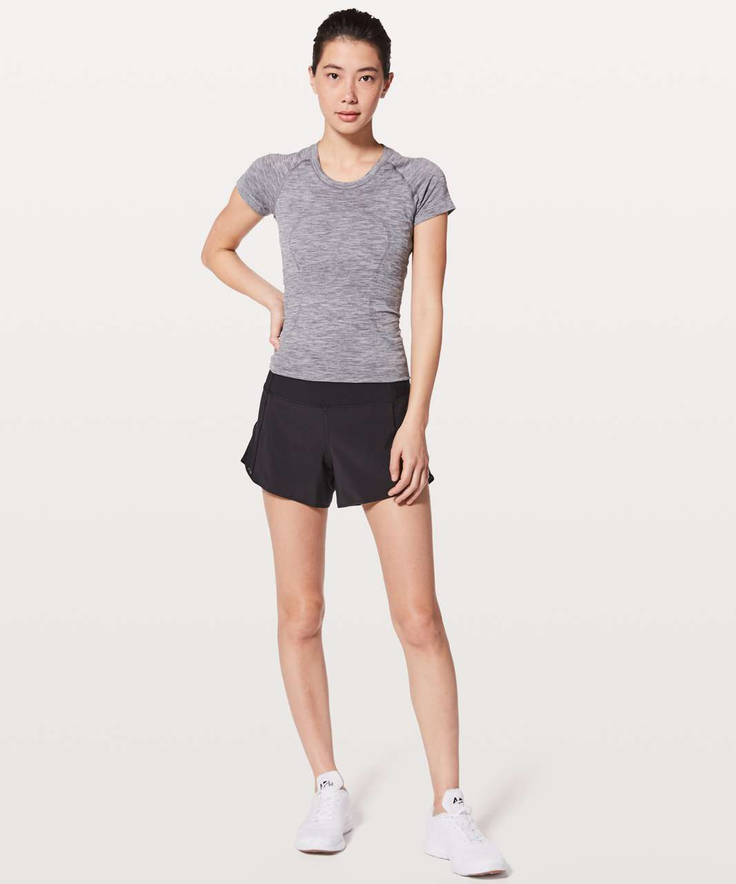 """Lululemon Real Quick Short *Perforated 3.5"""" - Black"""