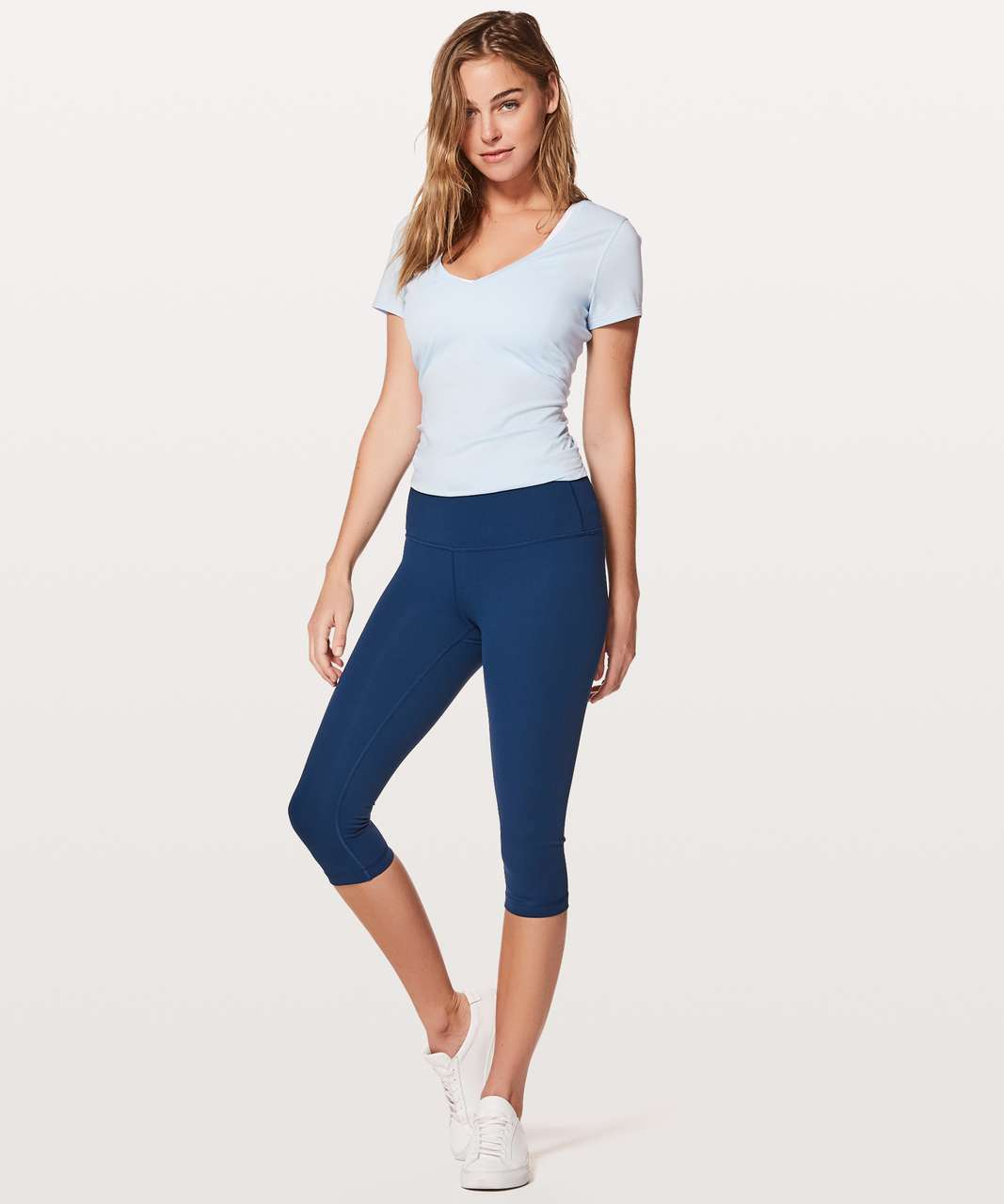 "Lululemon Wunder Under Hi-Rise 1/2 Tight *Full-On Luxtreme 17"" - Onyx Blue"