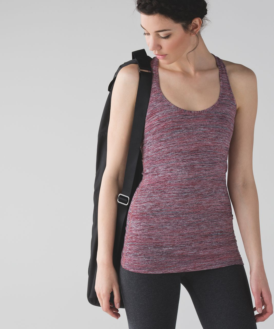 Lululemon Cool Racerback - Space Dye Camo Rosewood Fireside Red