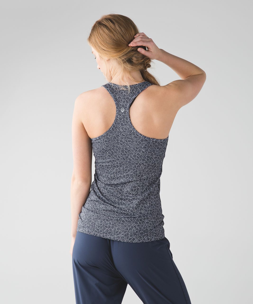 Lululemon Cool Racerback - Freckle Flower Black White