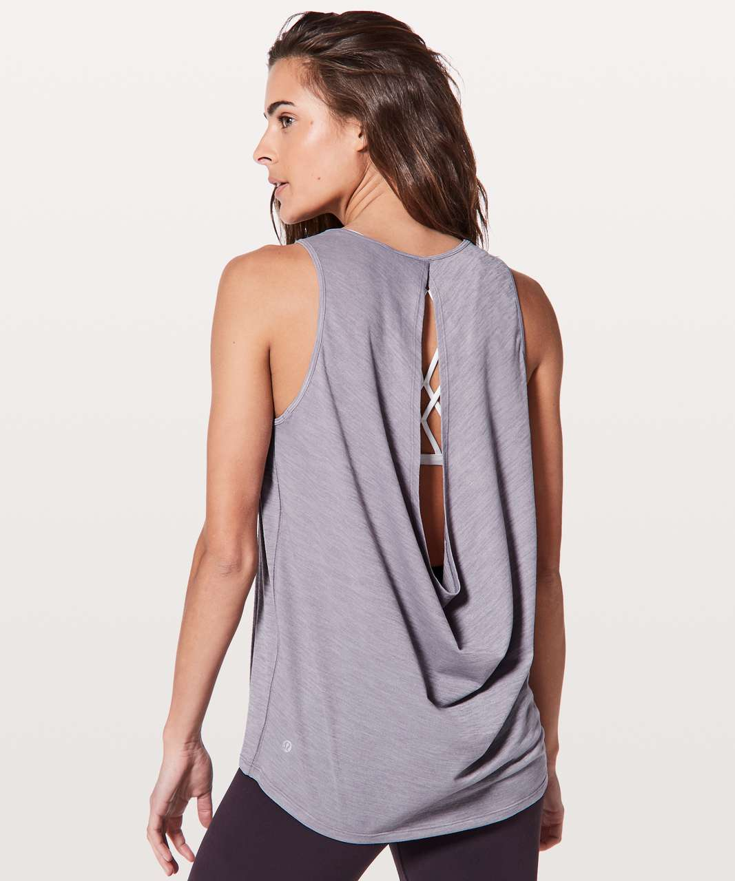 Lululemon Low Key Tank *Silver - Heathered Dusty Dawn