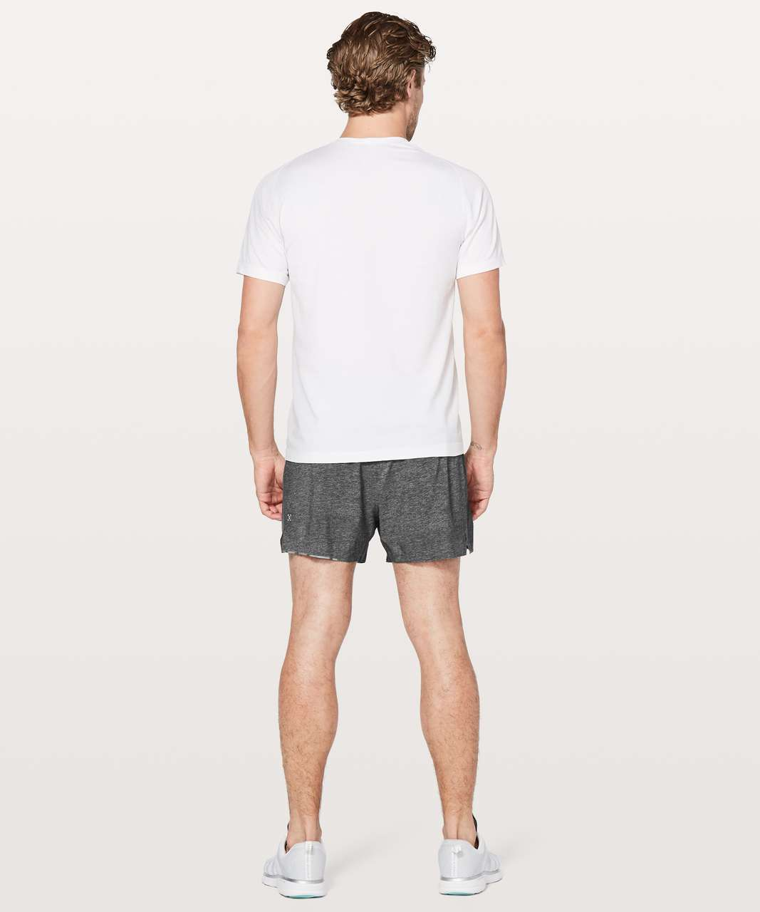 "Lululemon Surge Short Out Of Mind Liner 4"" - Heathered Texture Printed Greyt Deep Coal"