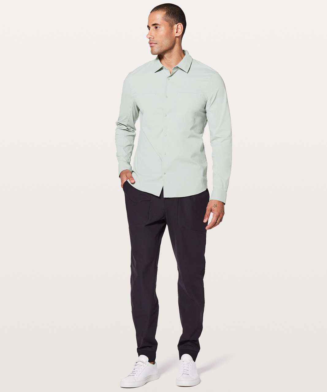 Lululemon Zenway Long Sleeve Buttondown - Sea Salt