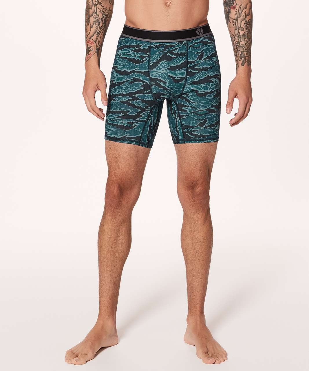 "Lululemon Game On Boxer Brief *7.5"" - Tiger Camo Multi Blue"