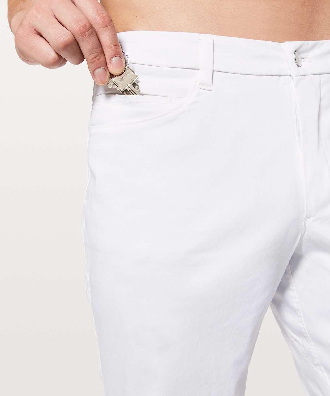 """Lululemon ABC Pant Slim *Swift Cotton 34"""" - White"""