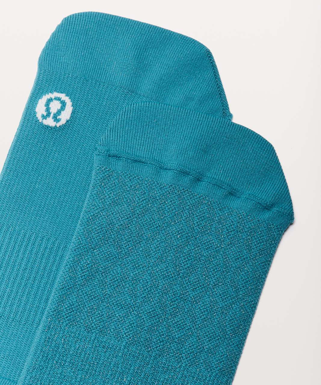 Lululemon Light Speed Sock *Silver - Teal Blue