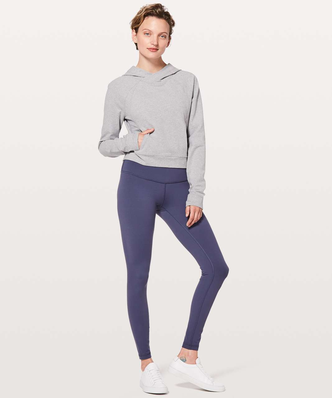 Lululemon Nice & Natural Popover - Heathered Medium Grey