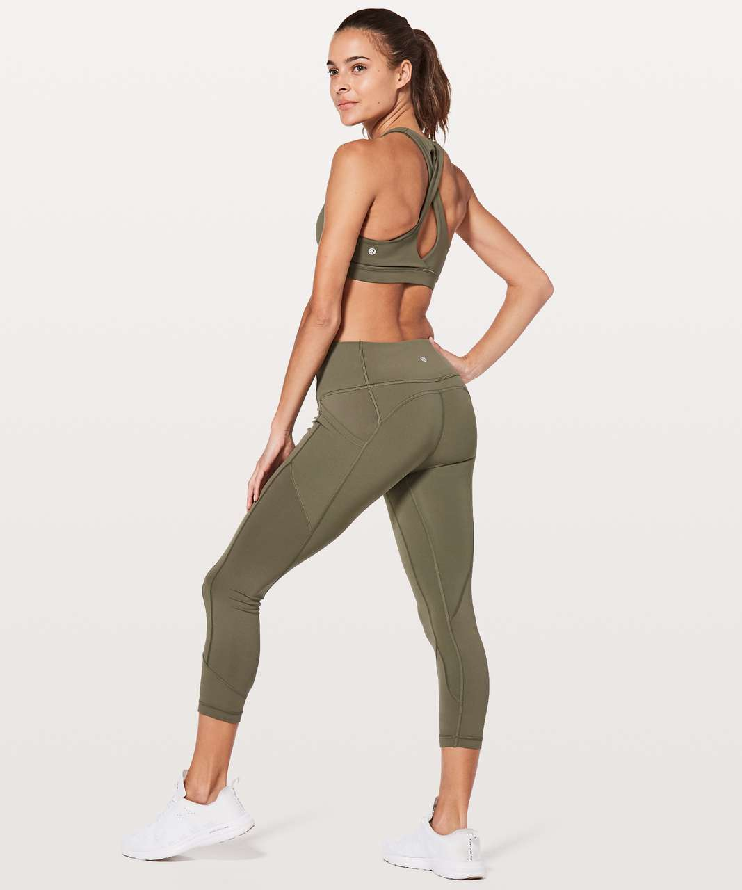 "Lululemon All The Right Places Crop II *23"" - Sage"