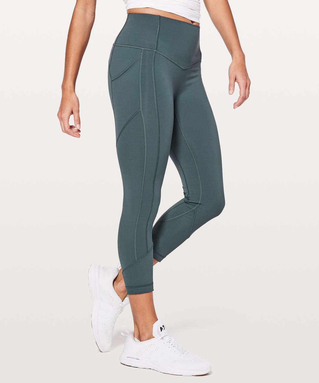 "Lululemon All The Right Places Crop II *23"" - Gravity"