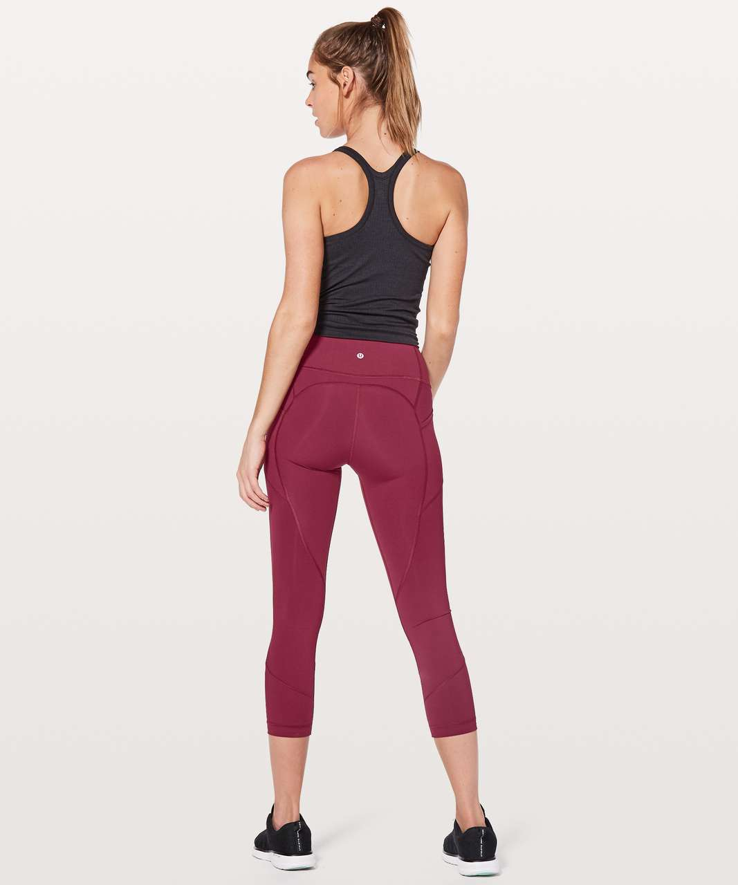 "Lululemon All The Right Places Crop II *23"" - Ruby Wine"