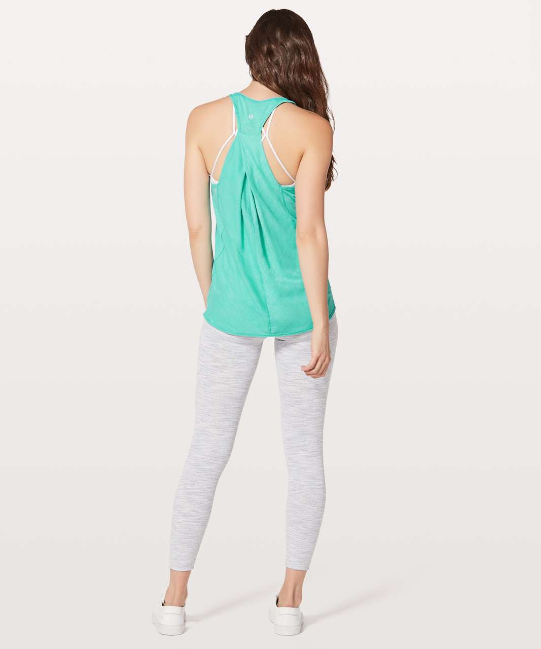 Lululemon Essential Tank - Heathered Eucalyptus