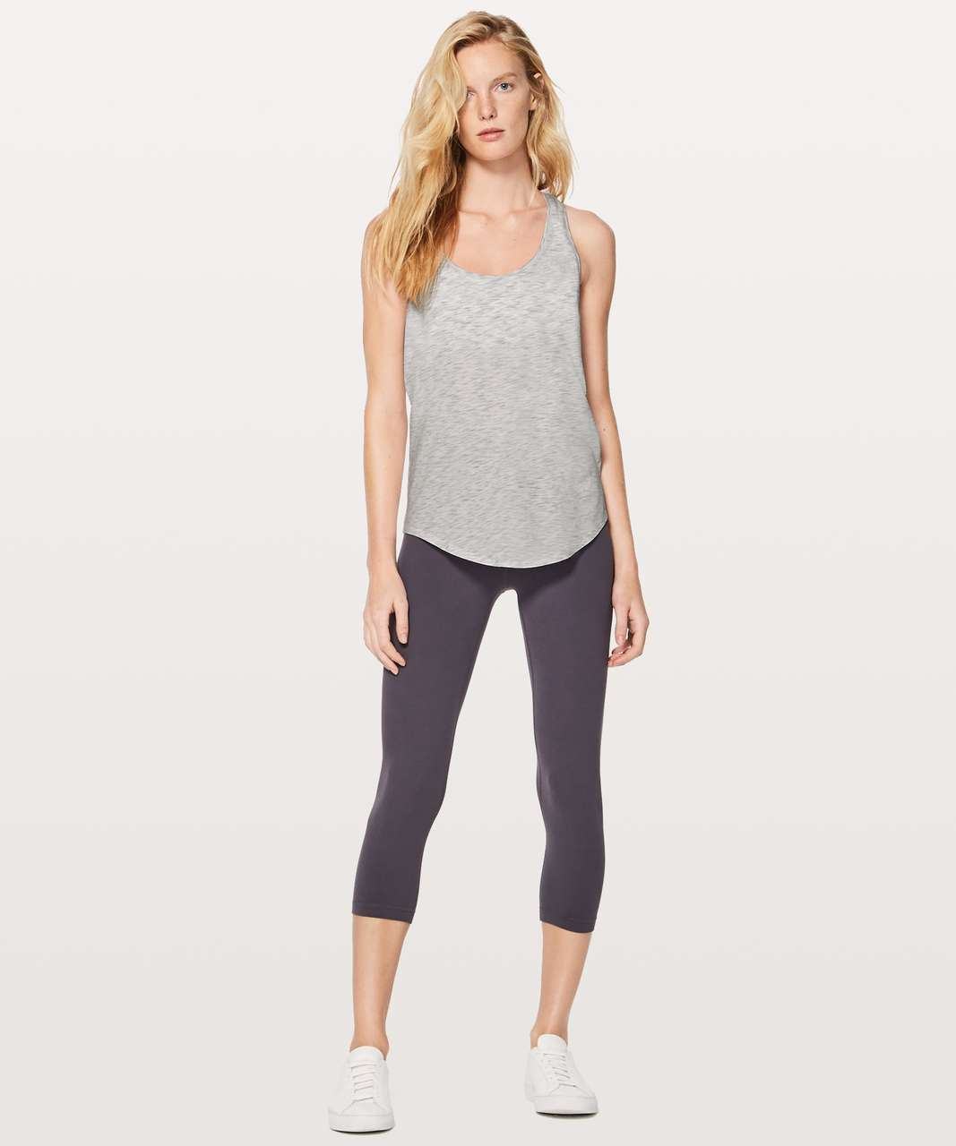 Lululemon Love Tank II - 3 Colour Space Dye Ice Grey Alpine White