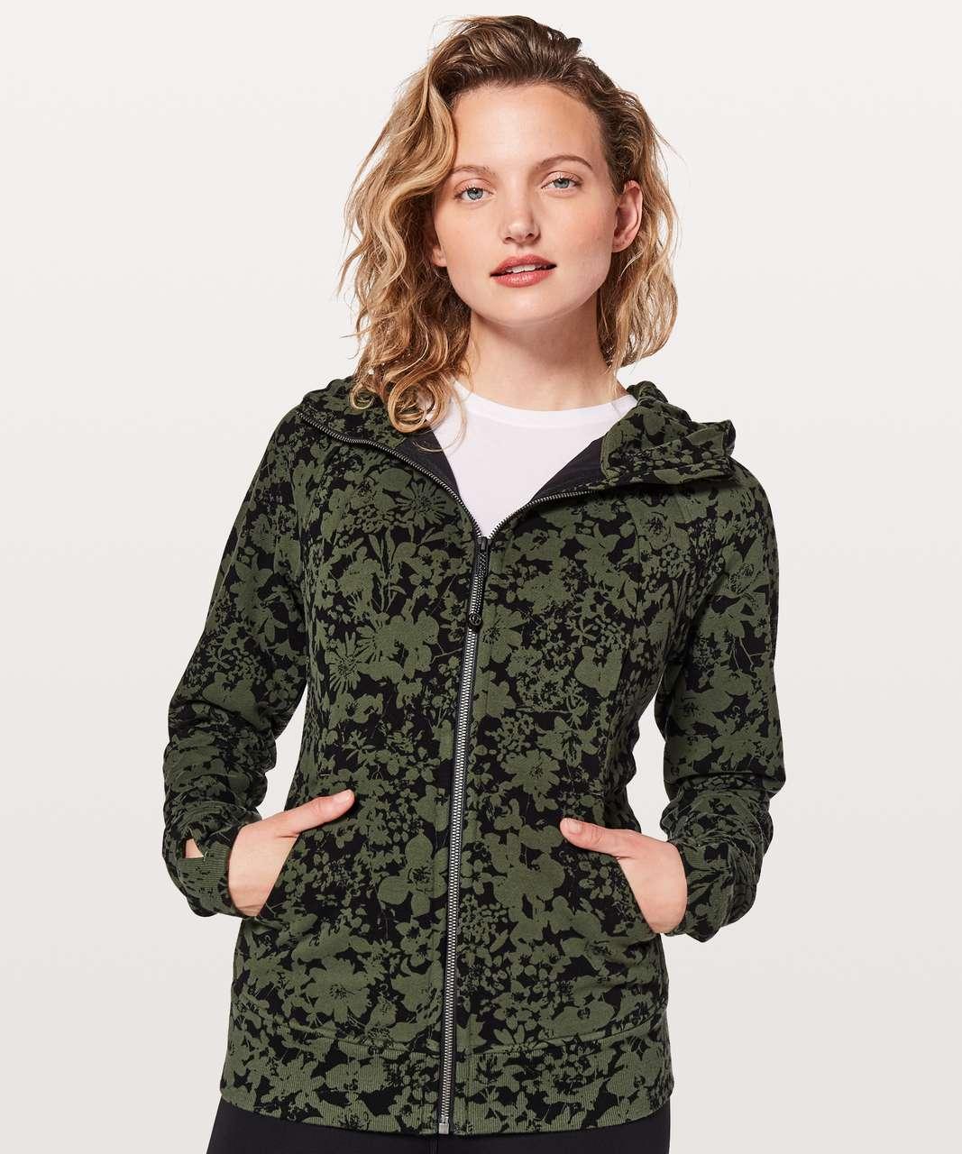 Lululemon Scuba Hoodie *Light Cotton Fleece - Ikebana Barracks Green Deep Phantom / Deep Phantom