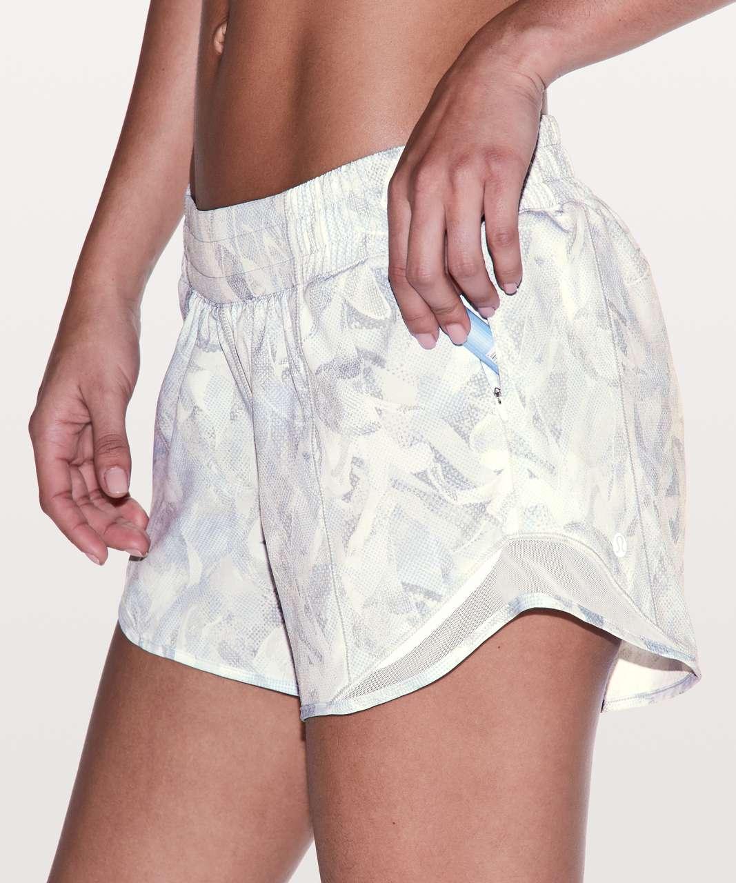 "Lululemon Hotty Hot Short II *Long 4"" - Jasmine White Multi / White"