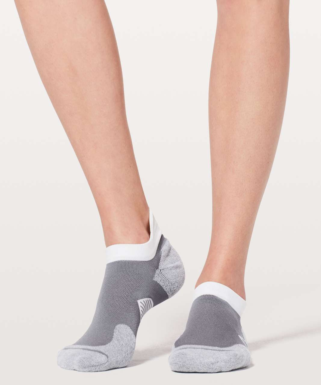 Lululemon Speed Sock *Silver - Arctic Grey / White