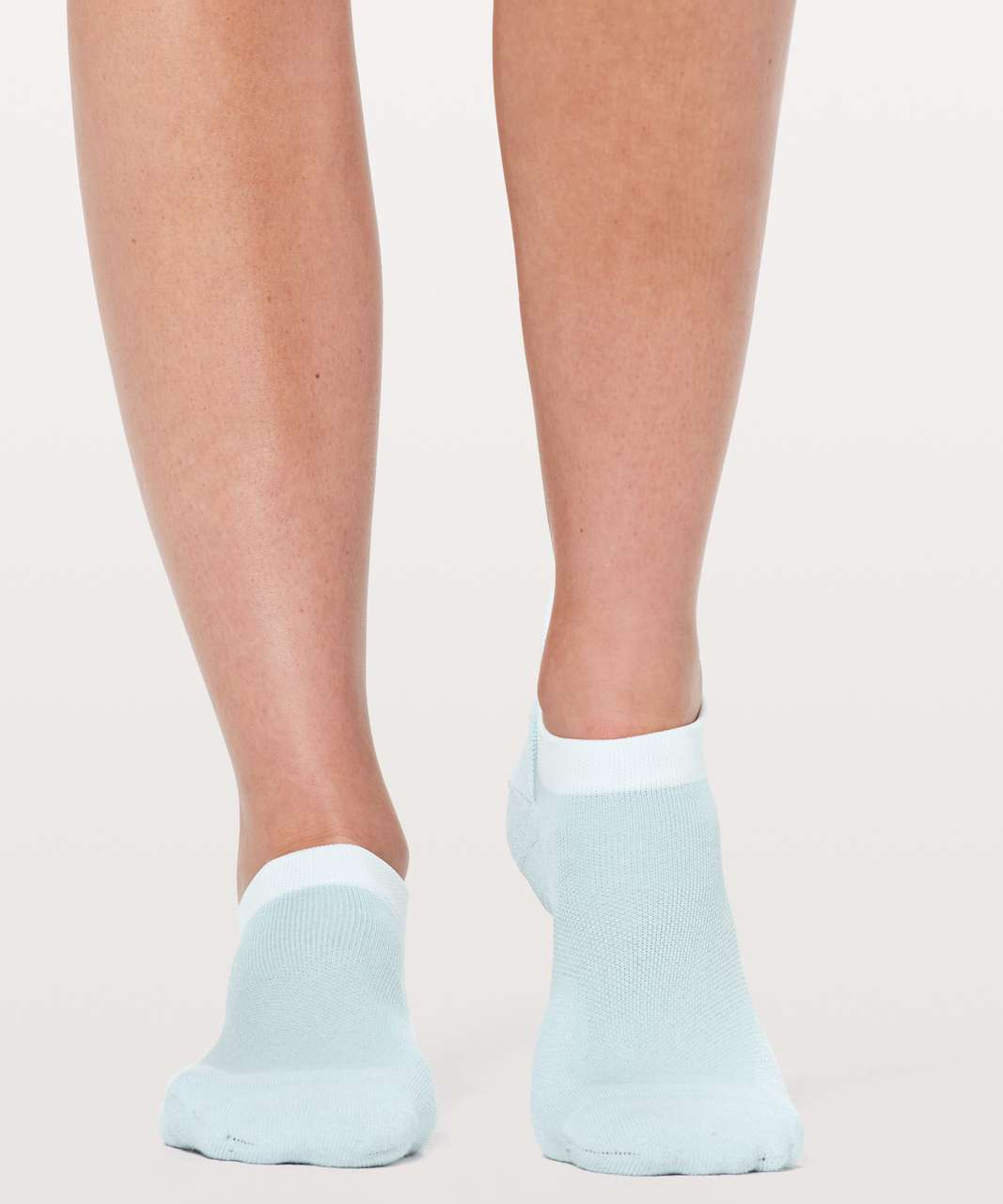 Lululemon Speed Sock *Silver - Blue Glow / White