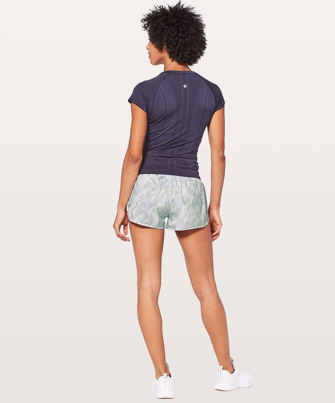 "Lululemon Hotty Hot Short II *2.5"" - Jasmine White Multi / White"