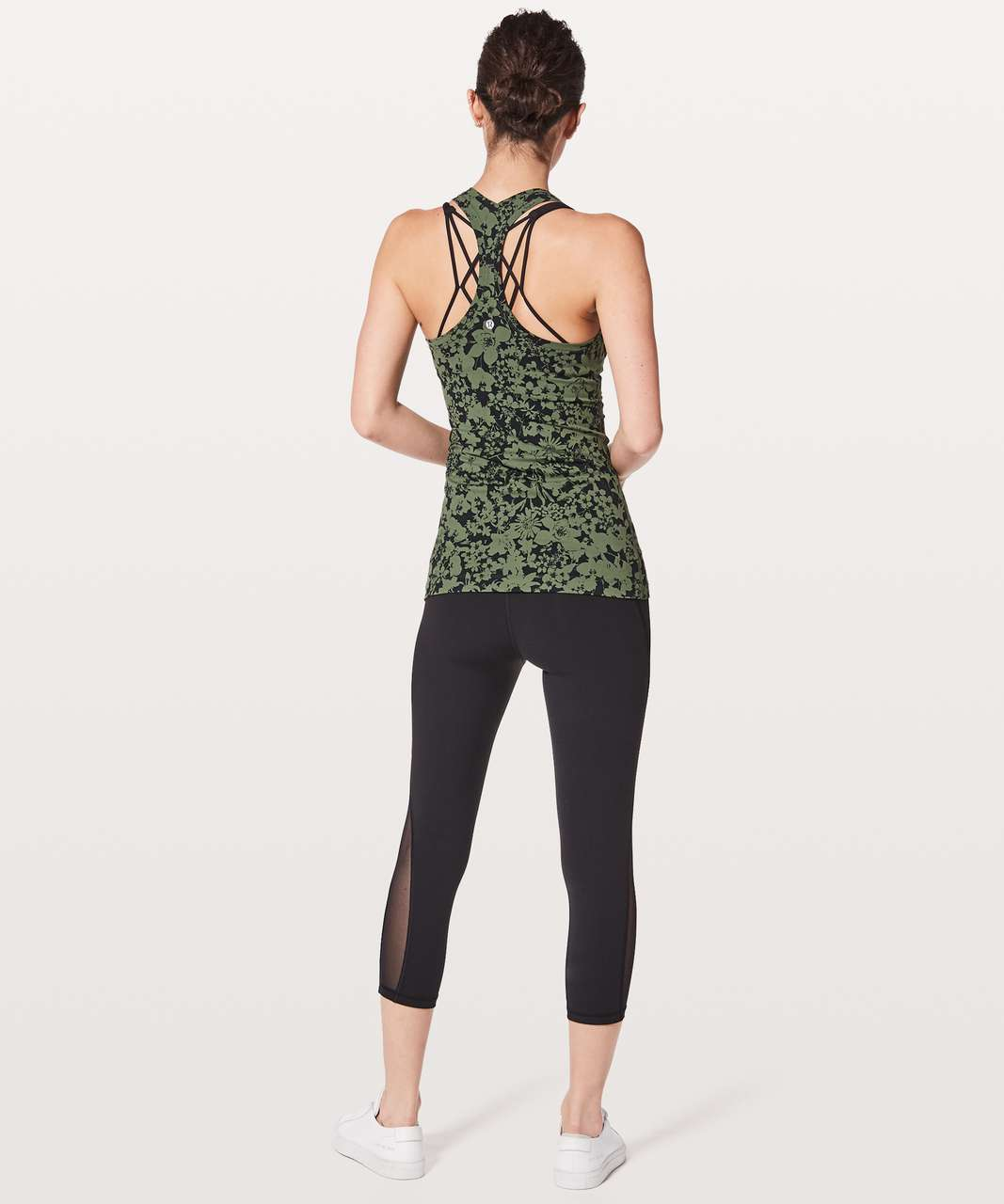 Lululemon Cool Racerback II - Efflorescent Barracks Green Black