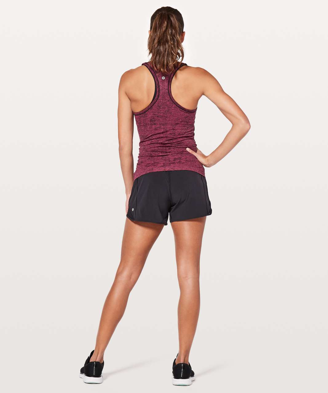 Lululemon Swiftly Tech Racerback - Fuchsia Pink / Black