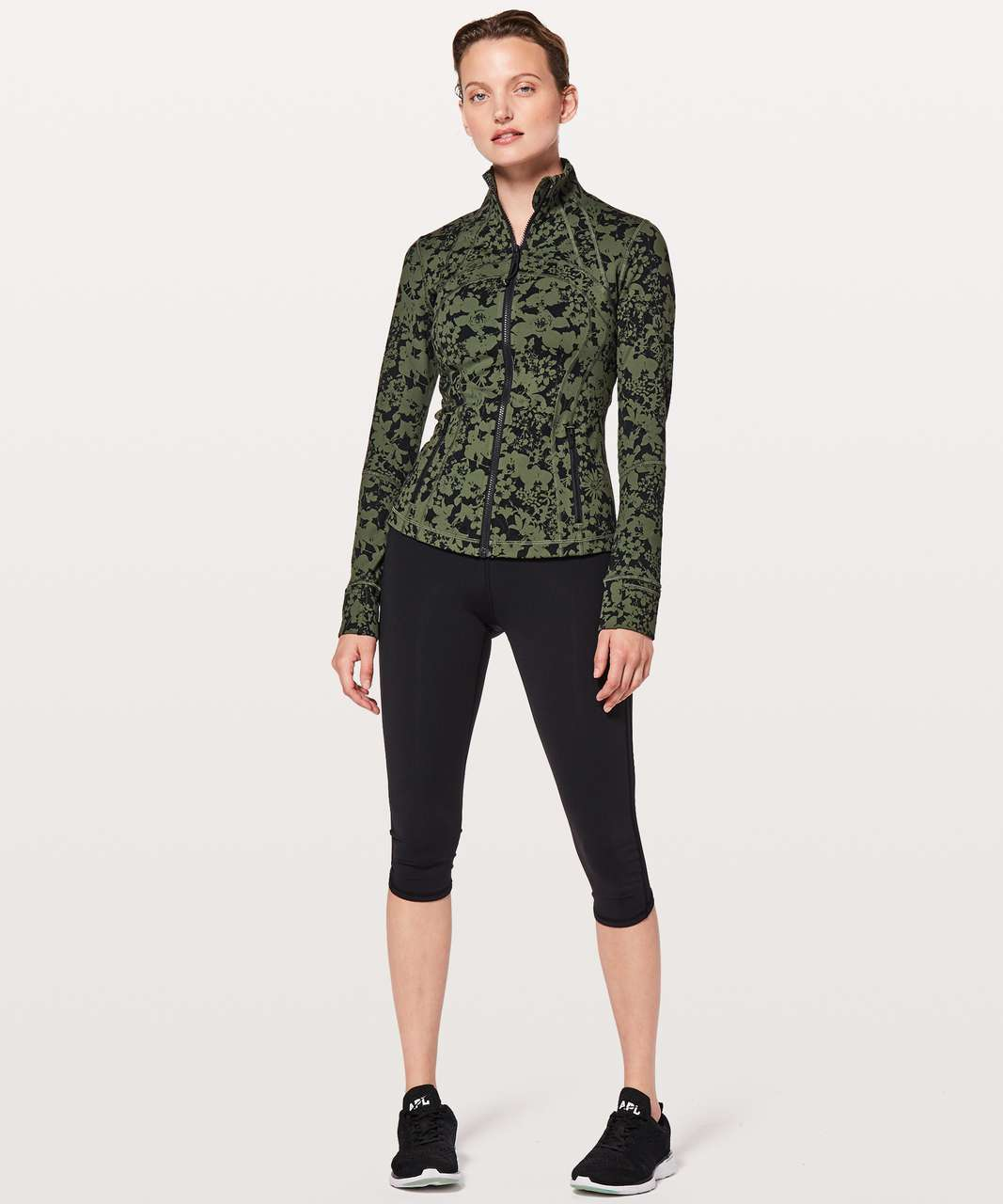 Lululemon Define Jacket - Efflorescent Barracks Green Black