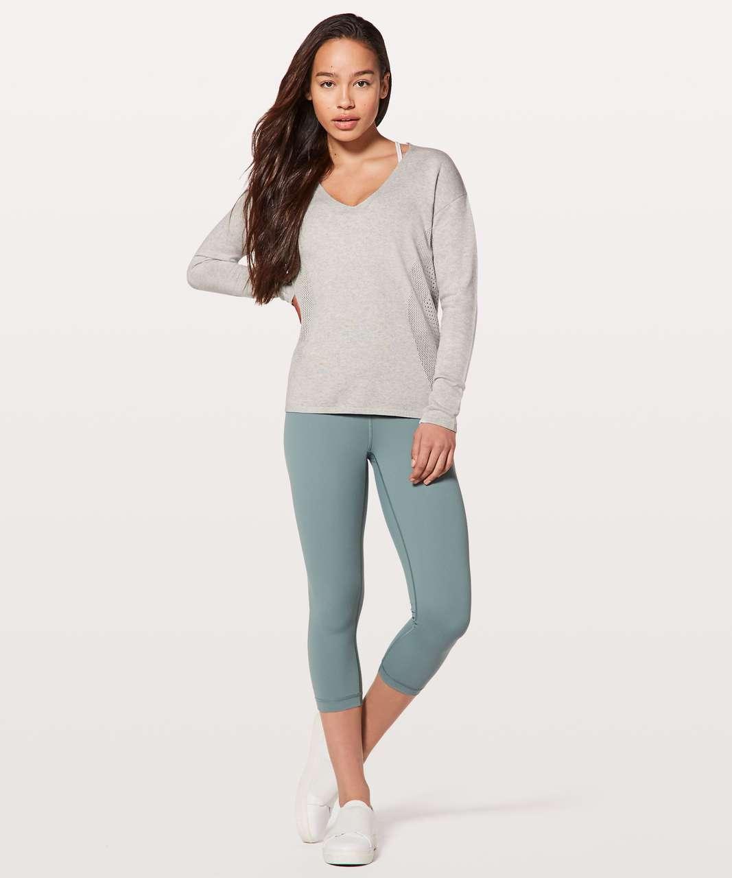 Lululemon Still Movement Sweater - Heathered Nimbus