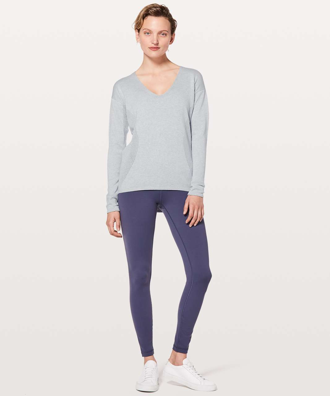 Lululemon Still Movement Sweater - Heathered Dawn Blue