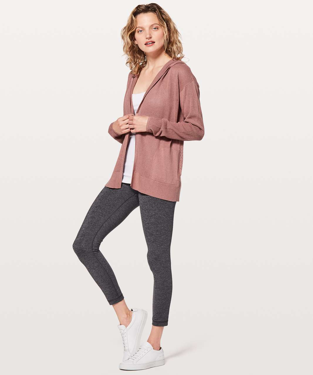 Lululemon Still Movement Wrap - Heathered Quicksand