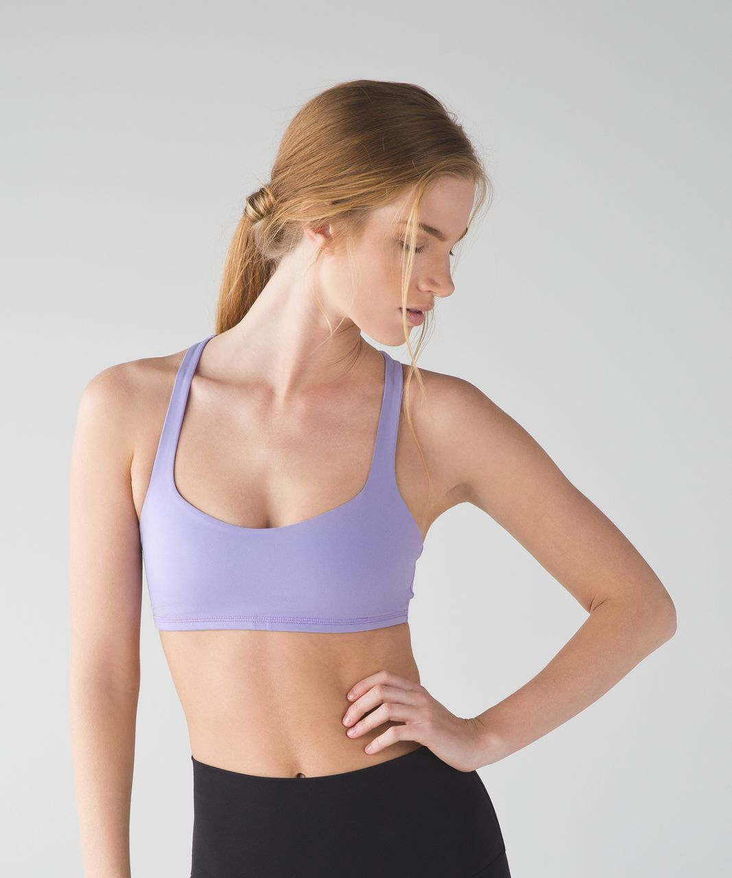 Lululemon Free To Be Bra - Lilac / Wave Twist Lilac Caspian Blue