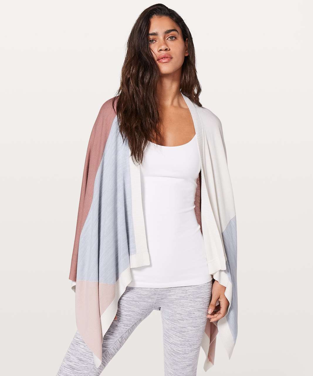 Lululemon Hatha Wrap - Quicksand / Misty Pink / Silver Fox / Alpine White