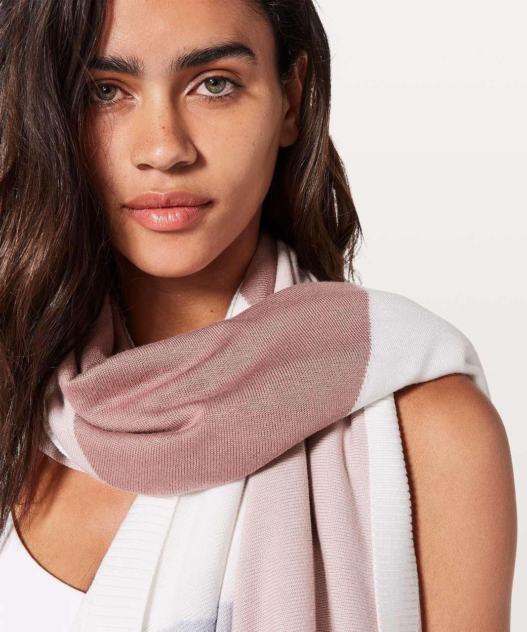 Lululemon Hatha Wrap - Quicksand / Misty Pink / Silver Fox / Alpine White