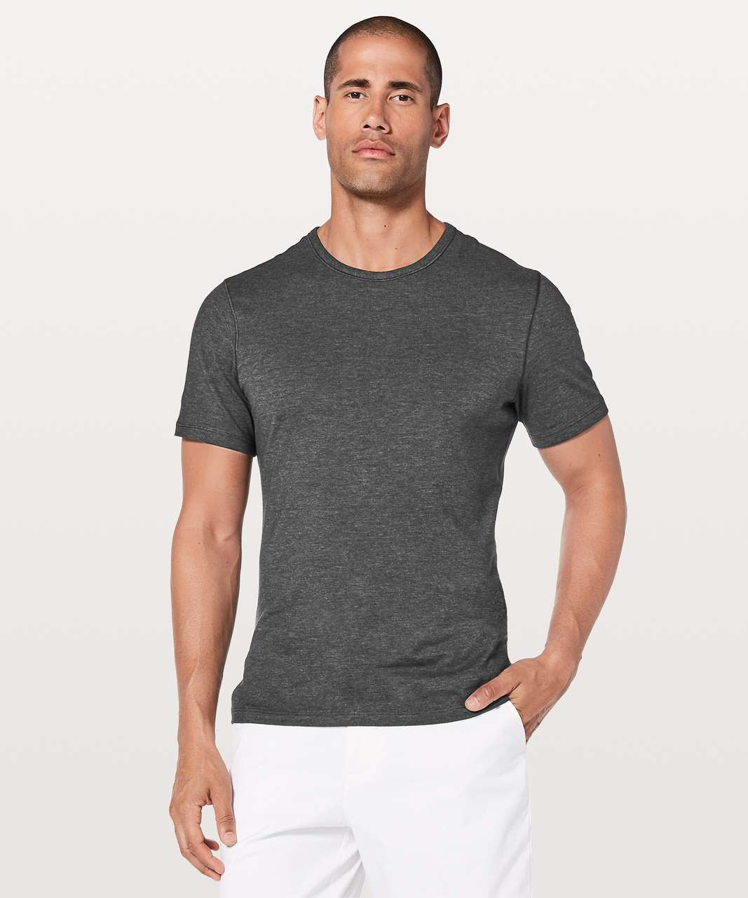 Lululemon 5 Year Basic Tee *Updated Fit - Heathered Black