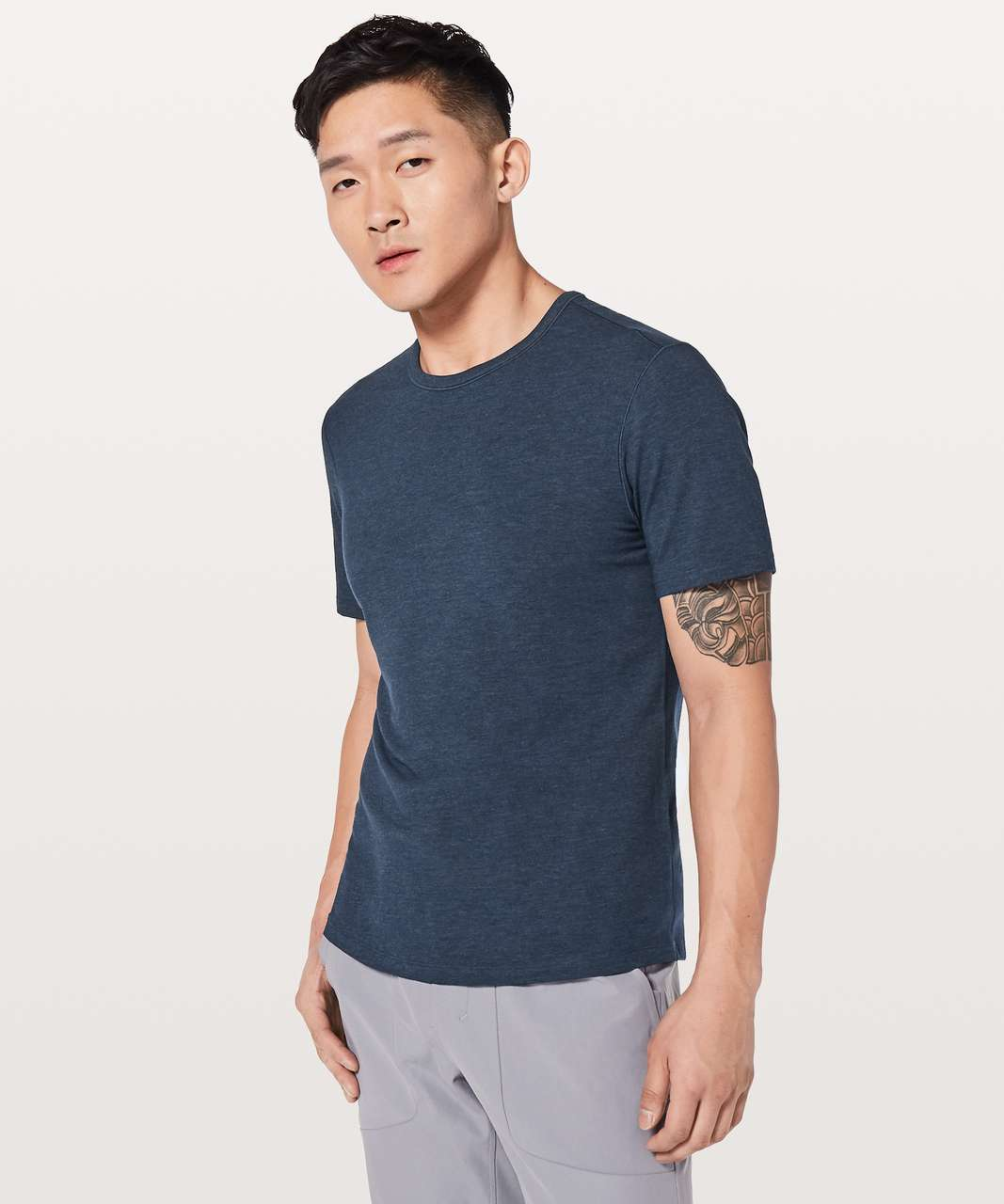 Lululemon 5 Year Basic Tee *Updated Fit - Heathered Nautical Navy