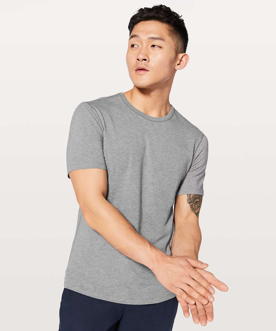 Lululemon 5 Year Basic Tee *Updated Fit - Heathered Medium Grey