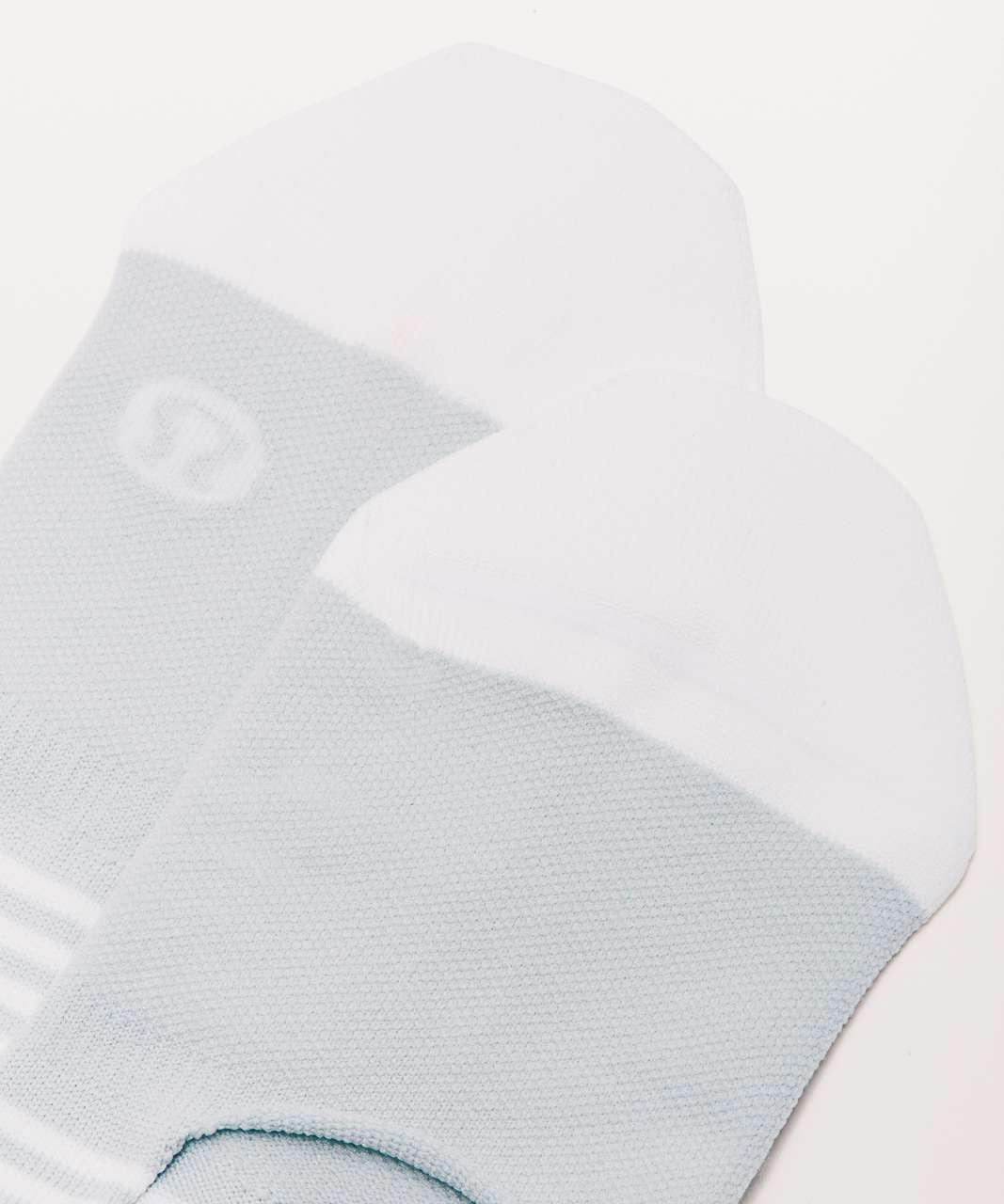 Lululemon Secret Sock - Silver Fox / White