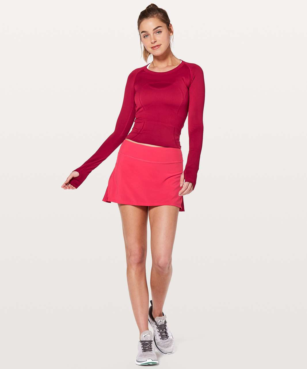 """Lululemon Play Off The Pleats Skirt *13"""" - Fuchsia Pink"""