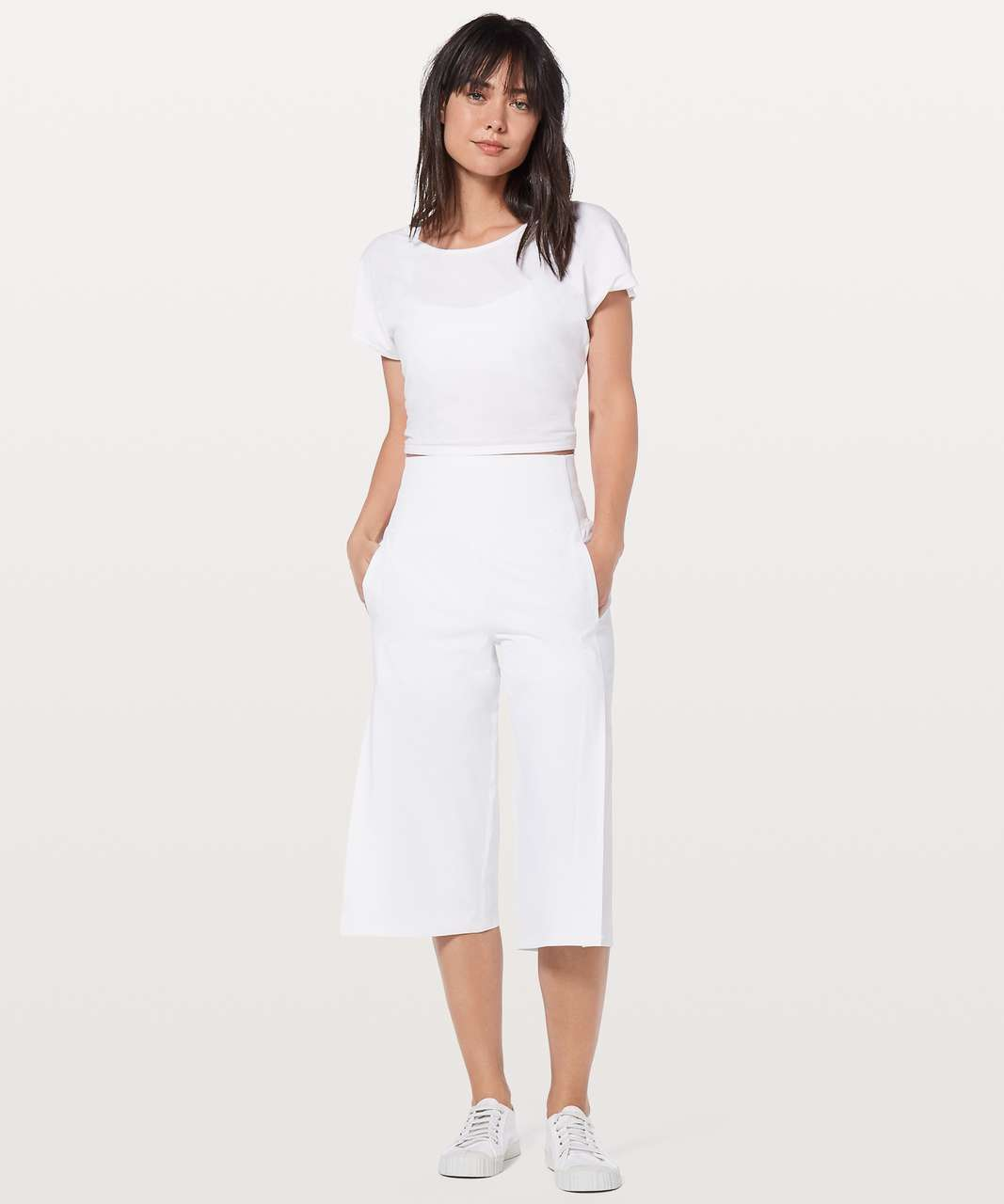 "Lululemon Serene Crop *Lined 19"" - White"